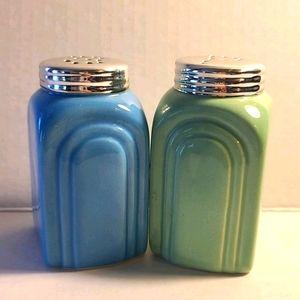 Retro Art Deco Style Salt & Pepper Shakers
